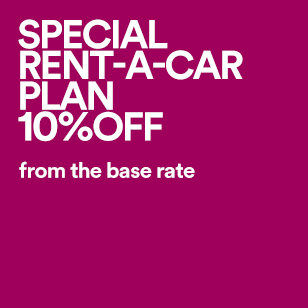 SPECIAL RENT-A-CAR PLAN 10%OFF from the base rate