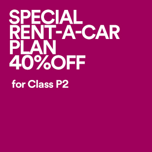 SPECIAL RENT-A-CAR PLAN 40%OFF for Class P2