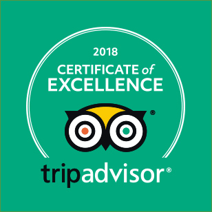 2018 CERTIFICATE of EXCELLENCE tripadvisorS®